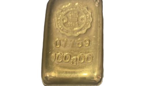 【K24】金インゴット/ 100g  お売りいただきました!