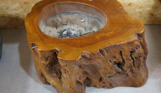 天然木 火鉢 骨董品のお買取りをさせて頂きました!