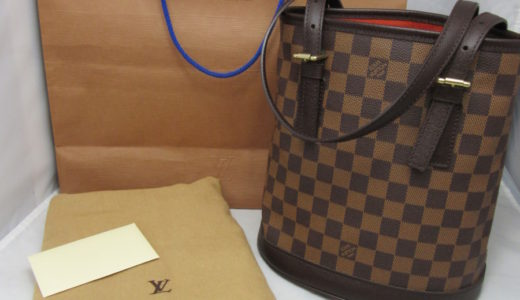 ルイ・ヴィトン マレ トートバック ダミエ・エベヌ N42240 ポーチ・袋・紙袋付き 未使用品 お買取価格をお教えします