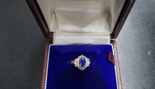 Pt900 サファイア・ダイヤモンド付きリングをお譲り頂きました。