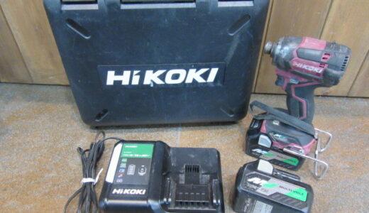 ★HiKOKI ハイコーキ コードレスインパクトドライバー WH36DC 中古品のお買取価格をお教えします★